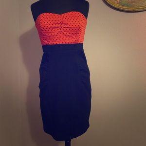 Polkadot Torrid Strapless Dress